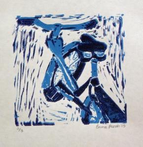 Emma P. - 1 Lino Cut Print